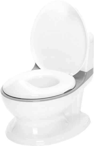 Fillikid Töpfchen »Mini Toilette, weiß/grau«, inkl. Sound- und Lichteffekte