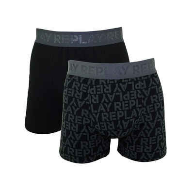 Replay Boxershorts »All over Logo« (2 Stück) in Box