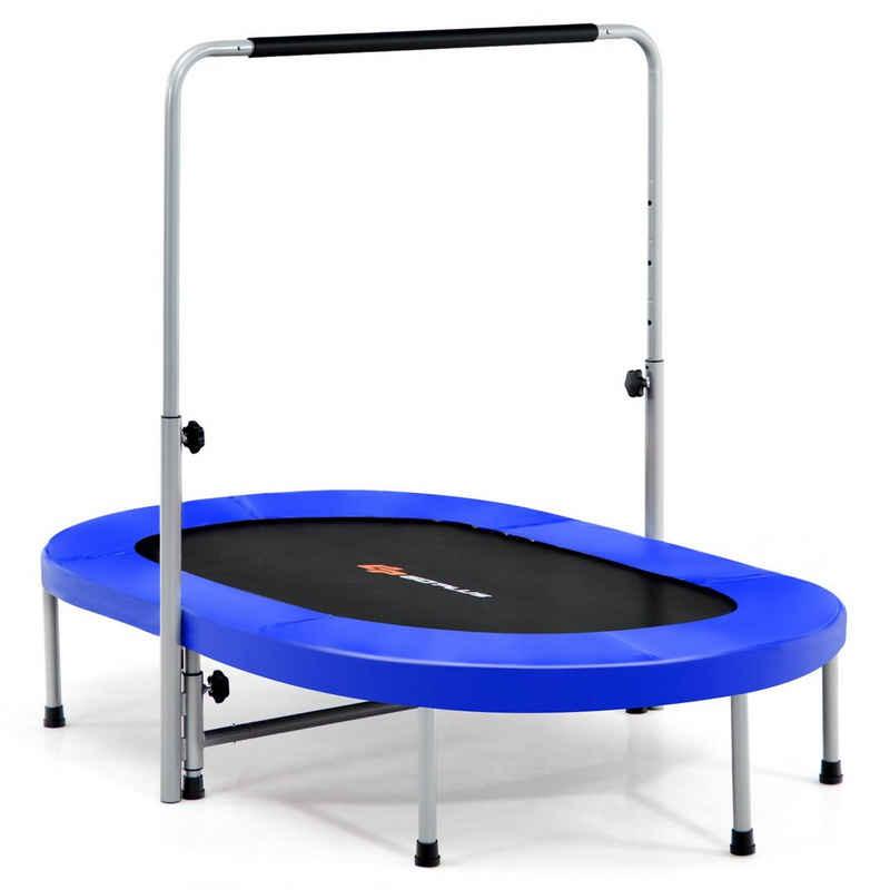 COSTWAY Kindertrampolin »Gartentrampolin«, 2 Personen, mit höhenverstellbarm Haltegriff, bis 150kg belastbar
