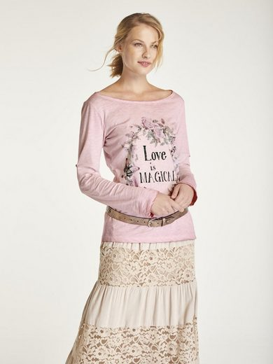 heine CASUAL Shirt mit Blumendruck