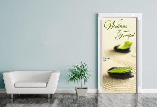 Bilderdepot24 Türtapete, Türaufkleber Wellness Tempel, selbstklebendes Vinyl