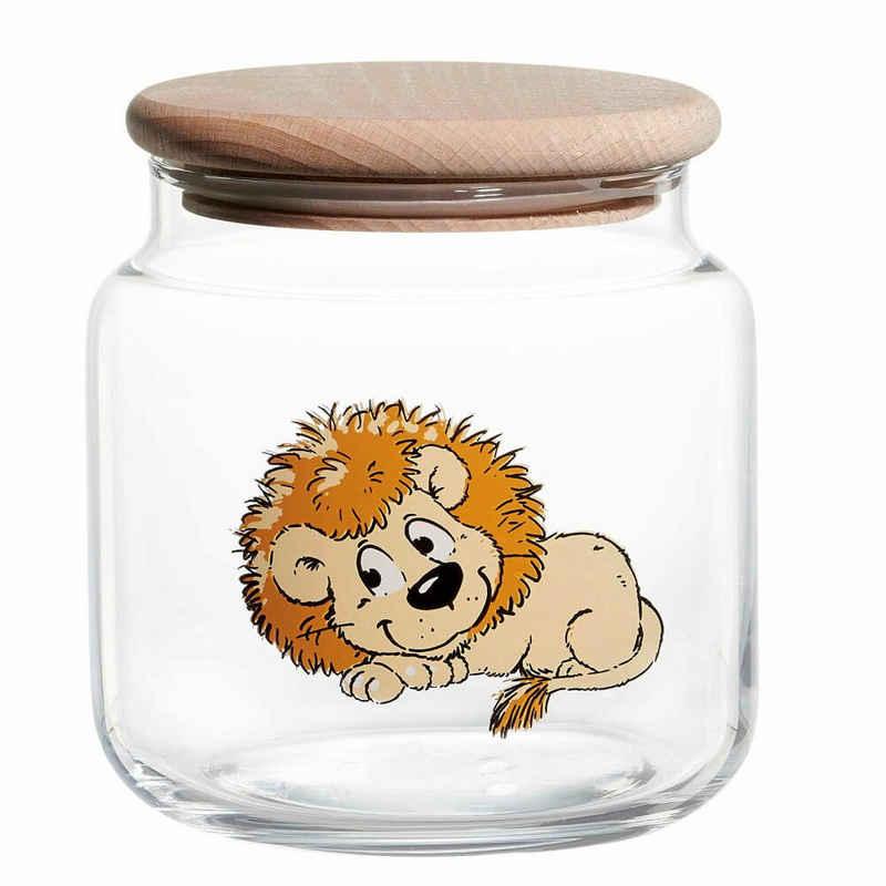 Ritzenhoff & Breker Vorratsdose »Happy Zoo - Löwe Leo«, Glas, (1-tlg)