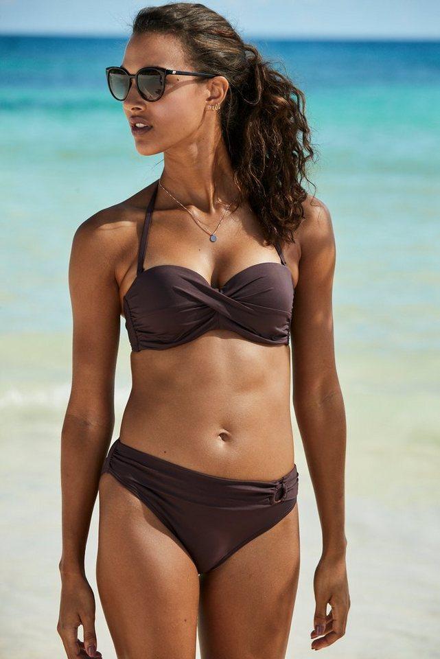 Bademode - s.Oliver Beachwear Bügel Bandeau Bikini Top »Rome«, in Wickeloptik › braun  - Onlineshop OTTO