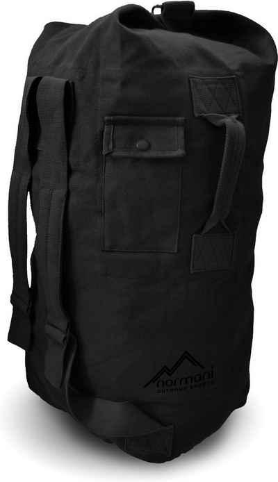 normani Packsack »Canvas-Seesack 90 l Submariner 90«, Duffle Bag Rucksack mit Doppelgurt und Metallverschluss
