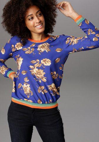 Aniston SELECTED Shirtbluse su kontrastfarbenen Glitzer...