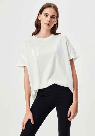 """LTB Kurzarmshirt »FACEDI« mit glänzendem""""LOVE"""" Aufdruck im Brustbereich"""