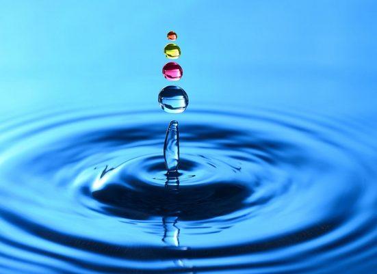 Fototapete »Splash Droplets«, glatt