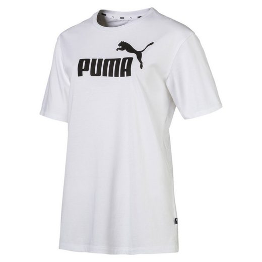 PUMA T-Shirt »Damen Boyfriend Logo T-Shirt«