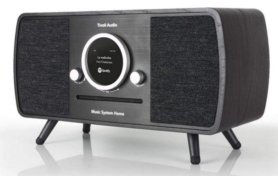 Tivoli Audio »Tivoli Audio Music System Home All-in-one FM/DAB+/« Stereoanlage (Digitalradio (DAB),FM-Tuner, LAN/W-LAN,DAB+,CD,Bluetooth,inklusive Fernbedienung,Display mit Uhrzeit, Weckfunktion,Amazon Alexa, Streamingdienste)