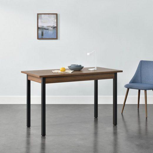 en.casa Esstisch, »Den Haag« Küchentisch Esszimmertisch 120x60cm in verschiedenen Farben