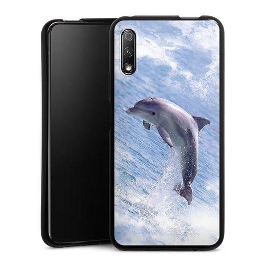 DeinDesign Handyhülle »Springender Delphin« Huawei Honor 9X, Hülle Delfine Meer Wal