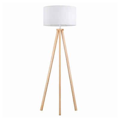 Tomons LED Stehlampe »Dimmbar aus Holz Dreibein, Skandinavischer Stil, Moderne Standleuchte für Wohnzimmer, Schlafzimmer, Arbeitszimmer, Energieklasse A++«