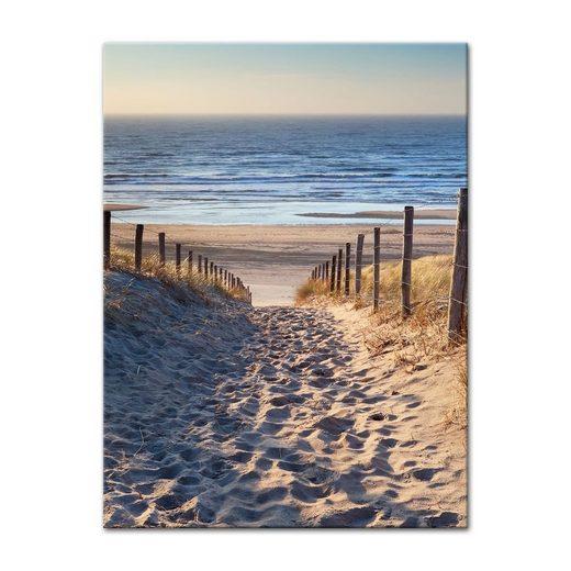 Bilderdepot24 Leinwandbild, Leinwandbild - Schöner Weg zum Strand III