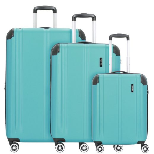 travelite Trolleyset »City«, 4 Rollen, (3-teilig, 3 tlg), ABS