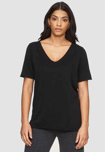 Cotton Candy T-Shirt »NIVIA« mit femininem V-Ausschnitt