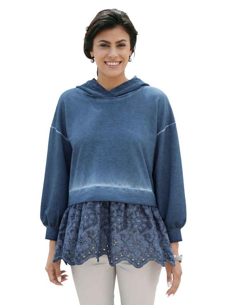 Amy Vermont Blusenshirt mit Bluseneinsatz aus Spitze