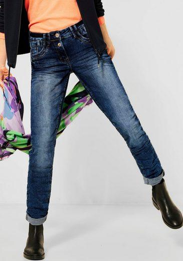 Cecil Loose-fit-Jeans »Scarlett« mit Kontrastnähten