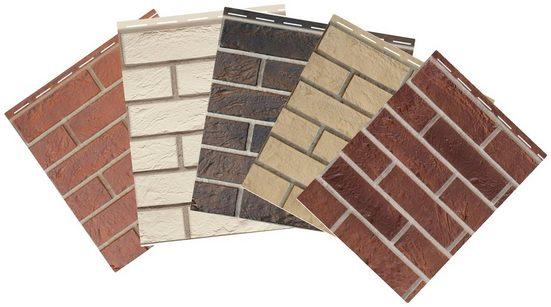BAUKULIT Set: Verblendsteine »Vox Solid Brick Muster«, 5 Farben, 20 x 42 cm