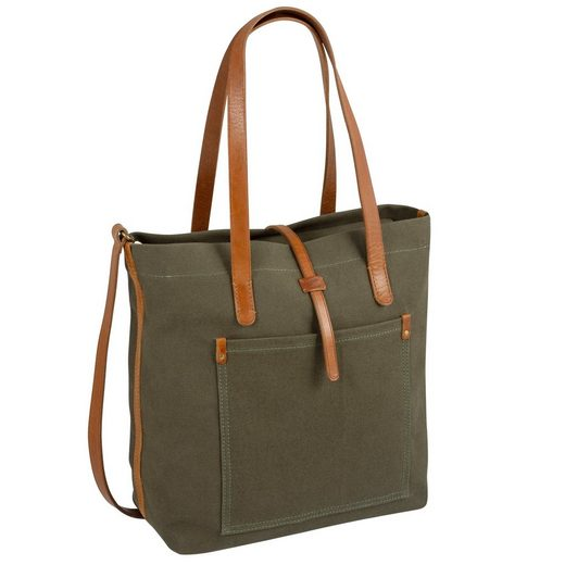 camel active Shopper »Nizza«, mit schicken Leder-Applikationen