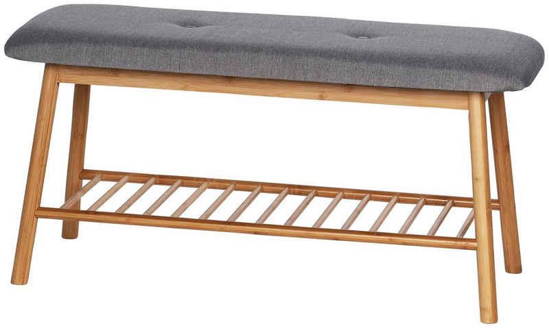 WENKO Schuhbank »Bahari«, BxTxH: 90x34x45 cm, aus Bambus