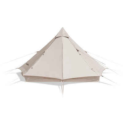 Naturehike Firstzelt »Campingzelt wasserdicht, Firstzelte Zelt 8-Sided, Pyramidenzelt für Familien«, 350 x 350 x 210 cm