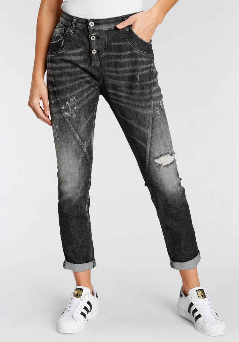 Please Jeans Destroyed-Jeans »P 78A« Original Boyfriend Fit