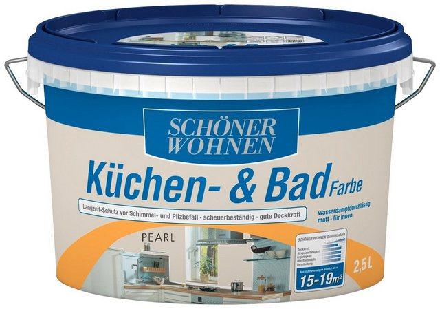 Schöner Wohnen Farbe Küchen- & Badfarbe, pearl, weiß