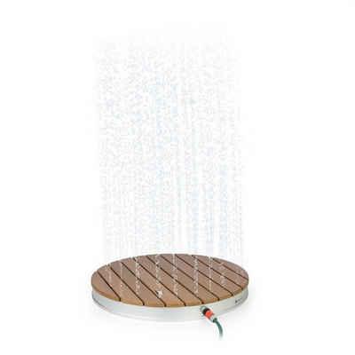 blumfeldt Gartendusche »Sumatra Breeze RD Gartendusche WPC Aluminium Ø70,4cm rund«, Wasser-, Frost- und UV-beständige Oberfläche