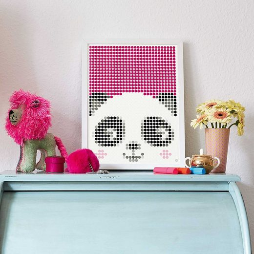 Dot On Malvorlage »dot on art kids - panda, 30 x 40 cm«