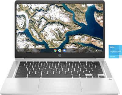 HP 14a-na0245ng Chromebook (35,6 cm/14 Zoll, Intel Pentium Silber, UHD Graphics, 128 GB SSD)