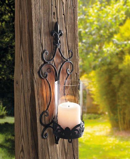 HomeLiving Windlicht »Schwertlilie«
