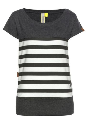 Alife & Kickin T-Shirt »CoraAK S« modisches Kurzarm-Shirt mit Streifen