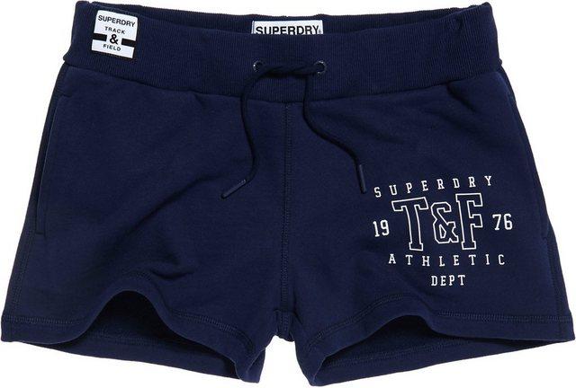 Hosen - Superdry Shorts »TRACK FIELD SHORT« mit ausgestanztem Logo › blau  - Onlineshop OTTO