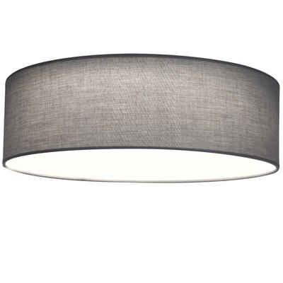 Navaris LED Deckenleuchte, LED Deckenlampe rund mit Stoffbezug - warmweiß - 22 Watt - 41,5 x 41,2 x 14,5cm - Design Stoff Deckenleuchter mit Montagematerial