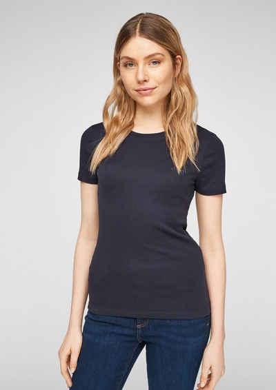 s.Oliver Kurzarmshirt »Slim Fit: T-Shirt mit Crew Neck« (1-tlg) Blende