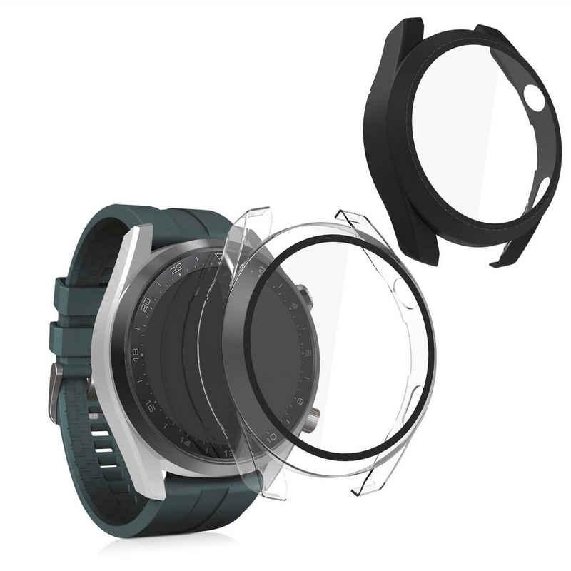 kwmobile Smartwatch-Hülle, 2x Hülle für Huawei Watch 3 Pro - Fullbody Fitnesstracker Cover Case Schutzhülle Set