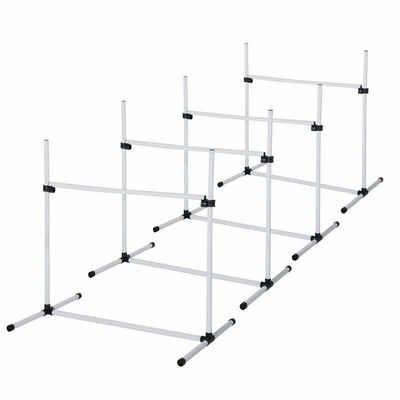 PawHut Agility-Hürde »Agility Hürdenset als 4er Set«, Kunststoff (PE, ABS)
