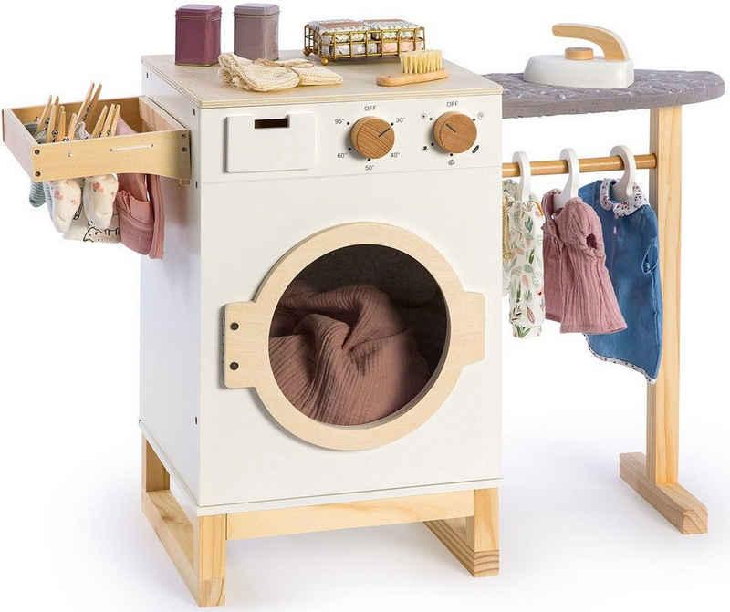 MUSTERKIND® Kinder-Haushaltsset »Wasch- und Bügelcenter Rumex«, aus Holz