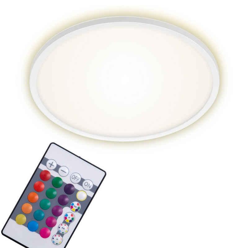Briloner Leuchten Deckenleuchte »7094-416«, Deckenlampe Ø42cm dimmbar RGB Steuerung BACKLIGHT