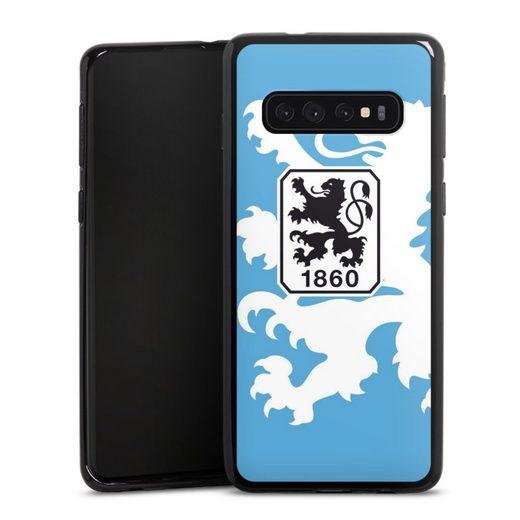 DeinDesign Handyhülle »1860 Löwe groß« Samsung Galaxy S10, Hülle TSV 1860 München Offizielles Lizenzprodukt Wappen