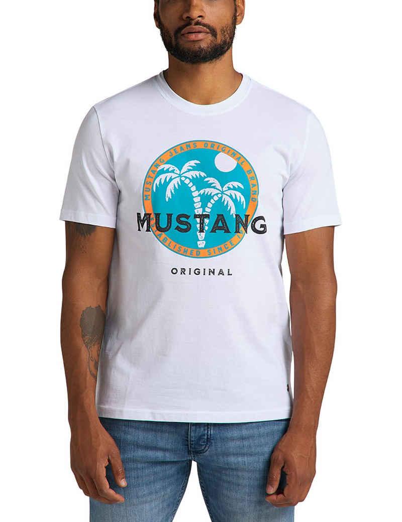 MUSTANG T-Shirt »Alex C Print« farbiger Print