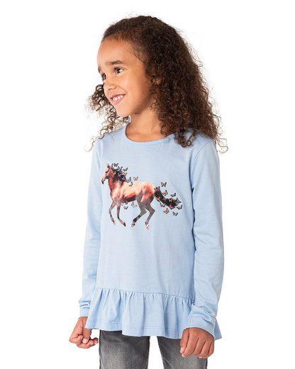 MyToys-COLLECTION Langarmshirt »Langarmshirt mit Volant für Mädchen von ZAB kids«