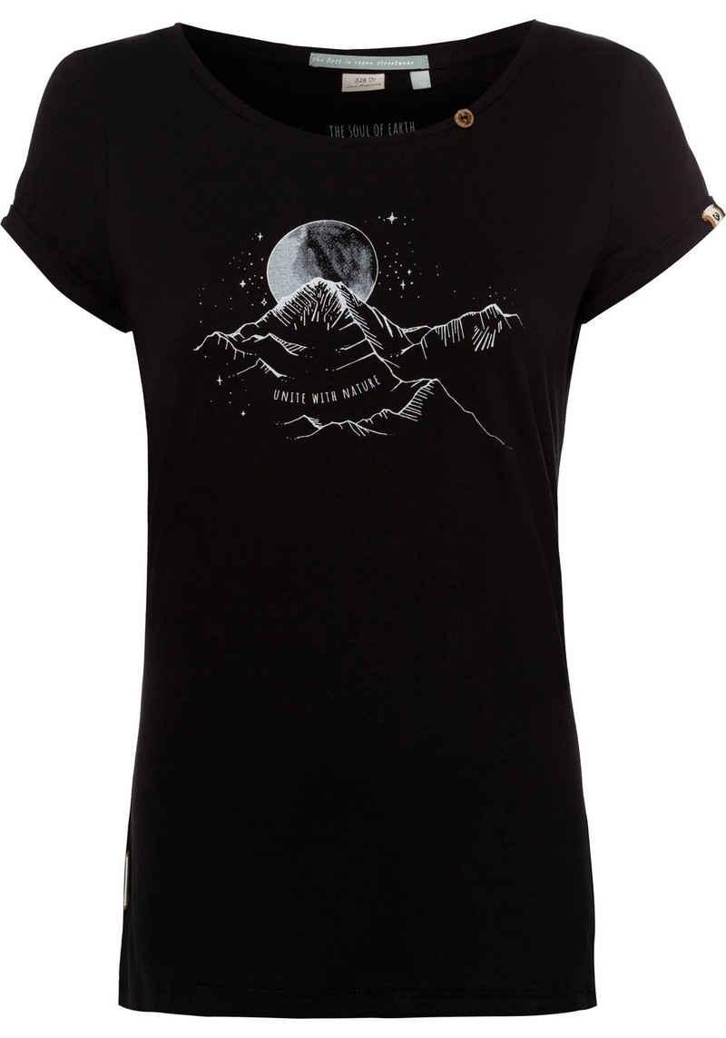 Ragwear T-Shirt »FLORAH PRINT B ORGANIC« mit Message-Print