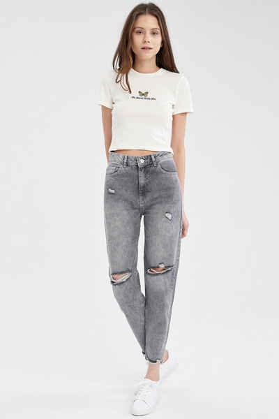 DeFacto Mom-Jeans »DeFacto Damen Hose MOM FIT«