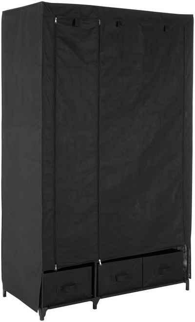 Kleiderschrank »aus Vlies« Breite 110 cm, mit acht Ablagen als Stauraum und einer Garderobenstange
