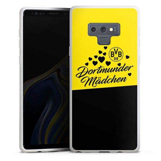 DeinDesign Handyhülle »BVB Dortmunder Mädel Herzen« Samsung Galaxy Note 9, Hülle BVB Borussia Dortmund Dortmunder Mädchen
