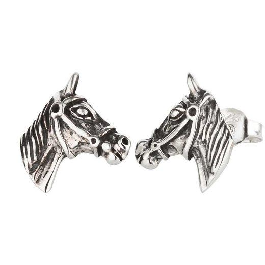 schmuck23 Ohrstecker-Set »Ohrringe Pferd 925 Silber«, Damen Mädchen Reiten Geschenk Kinderschmuck