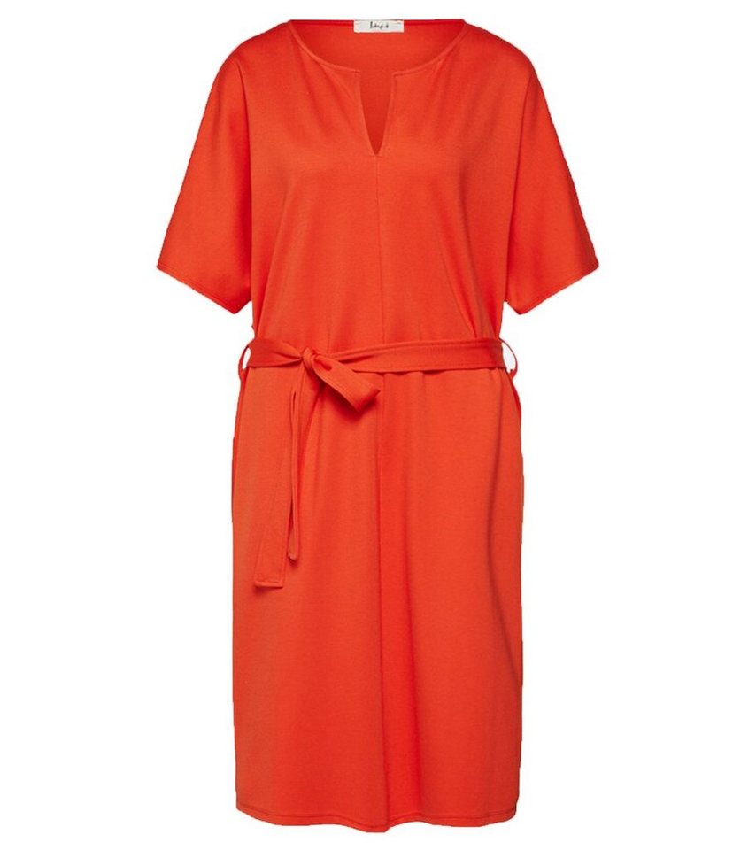 Liebesgluck Midikleid Liebesgluck Freizeit Kleid Schickes Damen Midi Kleid Mit Taillen Bindeband Party Kleid Orange Online Kaufen Otto