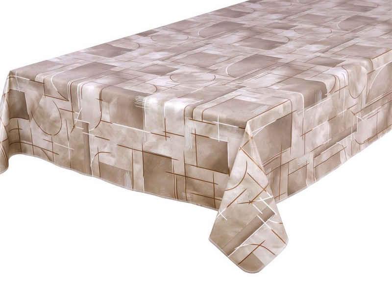 Beautex Tischdecke »Wachstuch Tischdecke abwischbar rutschfest mit Kettelung Eckig Rund, Motiv Farbe Größe wählbar« (1-tlg)