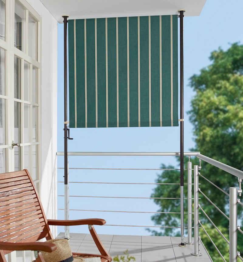 Angerer Freizeitmöbel Klemm-Senkrechtmarkise grün/weiß, BxH: 150x225 cm